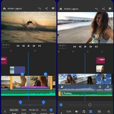 Aplicación Adobe Premiere Rush