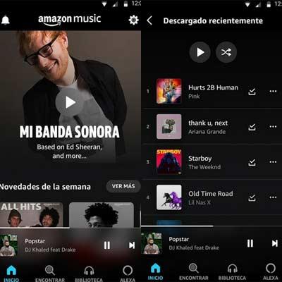 Aplicación Amazon Music Prime