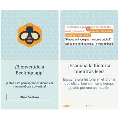 Aplicación Beelinguapp
