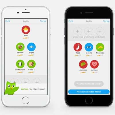Aplicación Duolingo