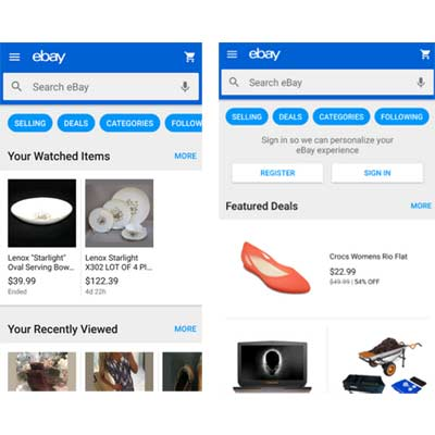 Aplicación eBay