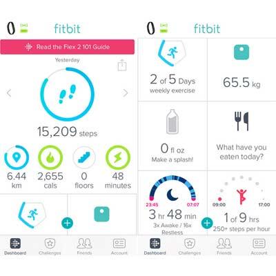 Aplicación Fitbit Force
