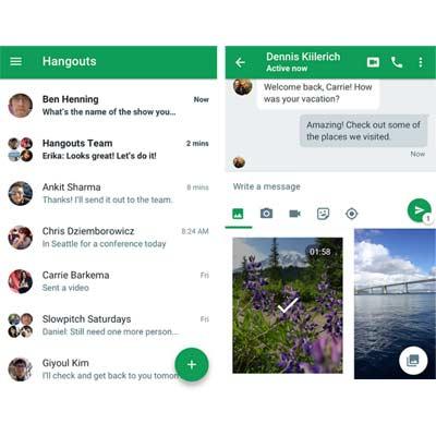 Aplicación Google Hangouts