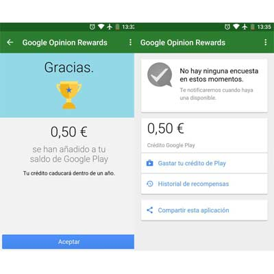 Descargar aplicación Google Opinion Rewards