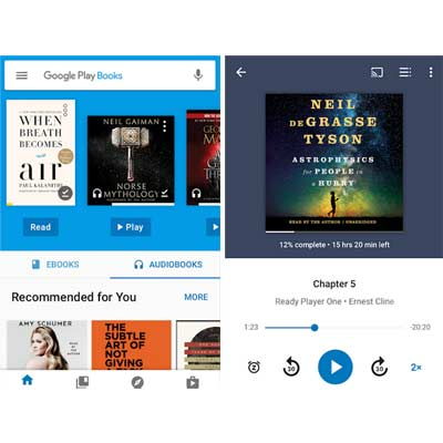 Aplicación Google Play Books