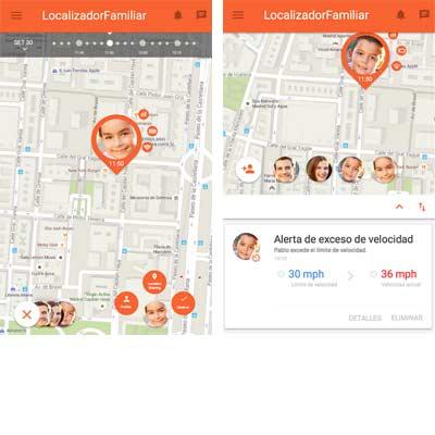 Aplicación GPS Localizador Familiar