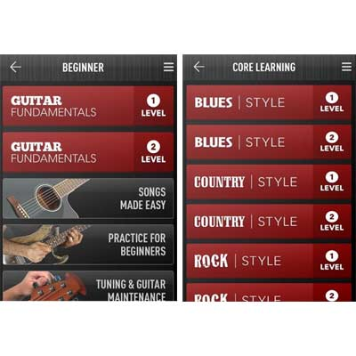 Aplicación GuitarTricks
