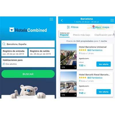 Aplicación HotelsCombined.com