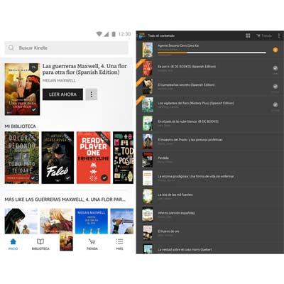 Aplicación Kindle