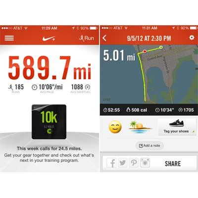 Aplicación Nike Running