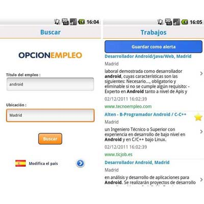 Aplicación OpcionEmpleo.com