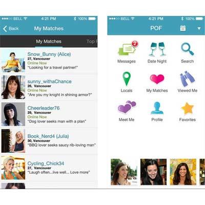 Aplicación para ligar POF Dating