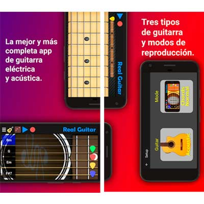 Aplicación Real Guitar