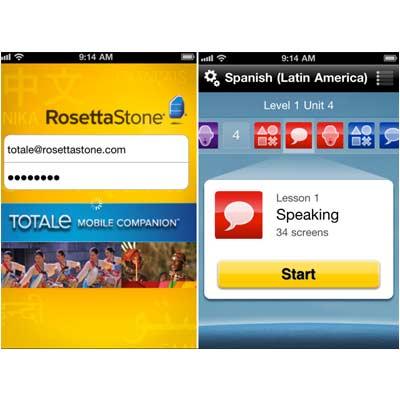 Aplicación Rosetta Stone