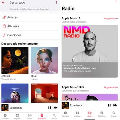 Aplicación Apple Music