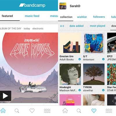 Aplicación BandCamp