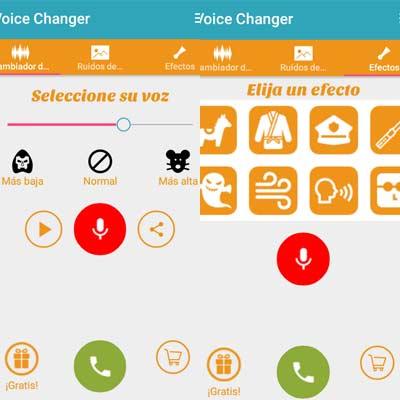 Aplicación Cambiador de Voz Allogag broma