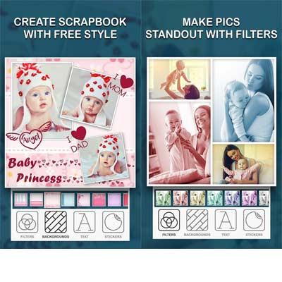 Aplicación Collage de fotos de bebé