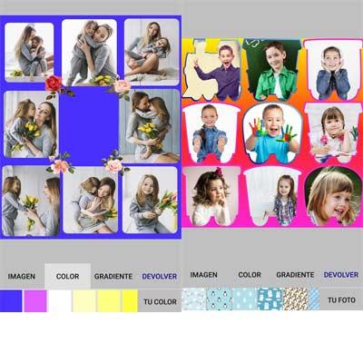 Aplicación Collage para fotos de niños