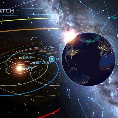Aplicación Cosmic Watch