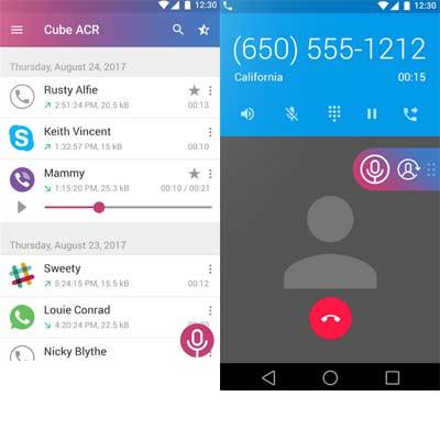Aplicación Grabador de Llamadas - Cube ACR
