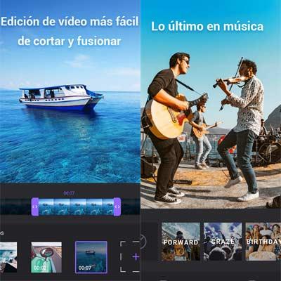 Aplicación Editor de vídeo con fotos y música
