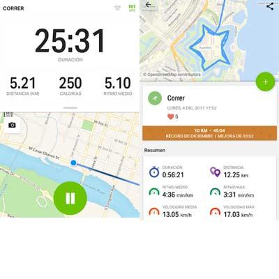 Aplicación Endomondo - Correr & Ciclismo