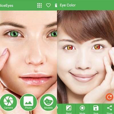 Aplicación Eye Color Changer