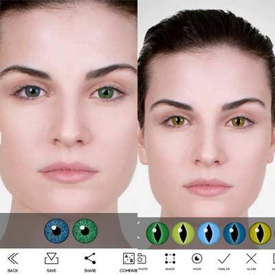 Aplicación Eye Color Studio