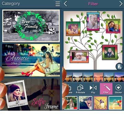 Aplicación Fabricante de collage de imagen familiar