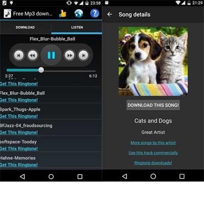Aplicación Free Mp3 Downloads