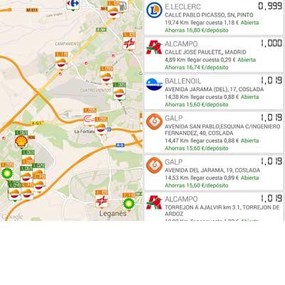 Aplicación Gasolineras España