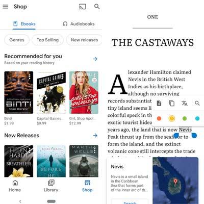 Aplicación Google Play Books