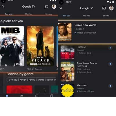 Aplicación Google TV