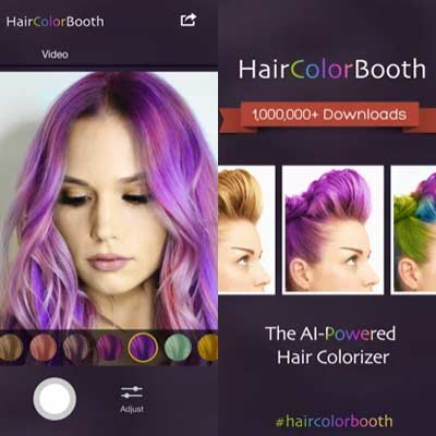 Aplicación Hair Color Booth