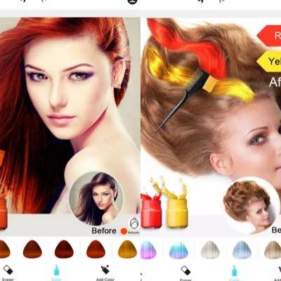 Aplicación Hair Color Dye