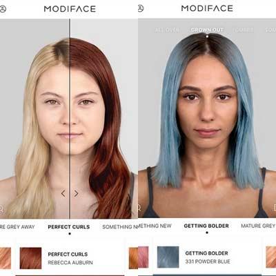 Aplicación Hair Color Modiface