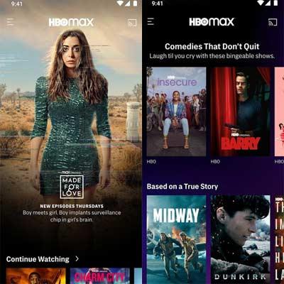 Aplicación HBO Max