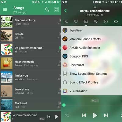 Aplicación JetAudio