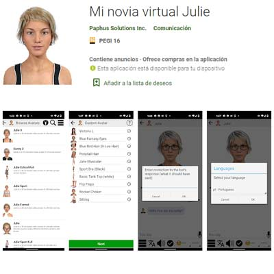 Aplicación Mi Novia Virtual Julie
