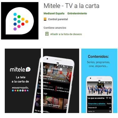 Aplicación Mitele