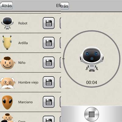 Aplicación Modificador de voz