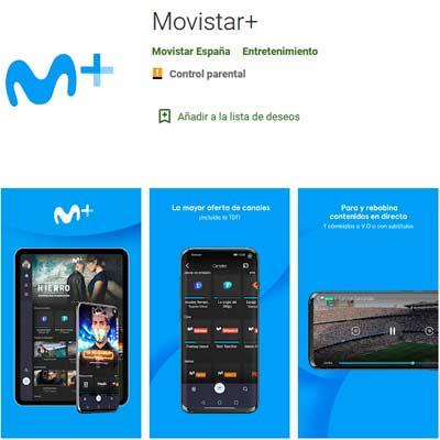 Aplicación Movistar+