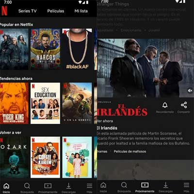 Aplicación Netflix
