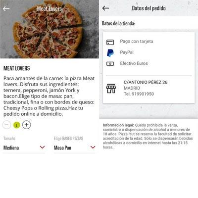 Aplicación PizzaHut