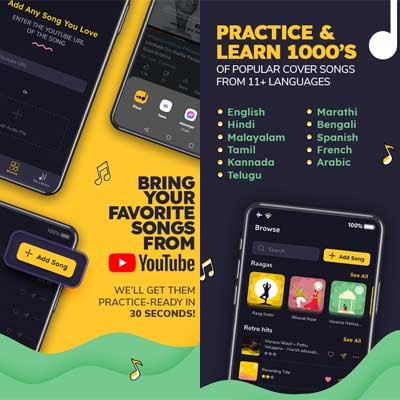 Aplicación Riyaz - Learn Singing
