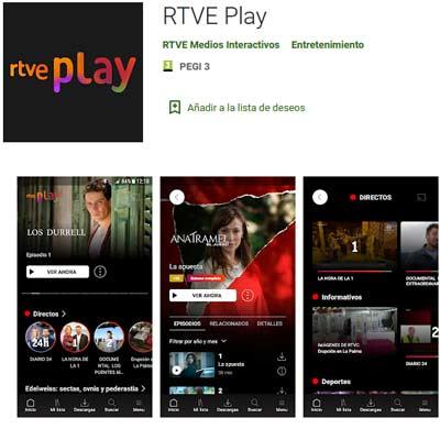 Aplicación RTVE Play