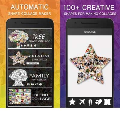 Aplicación Shape Collage - Collage de fotos automático