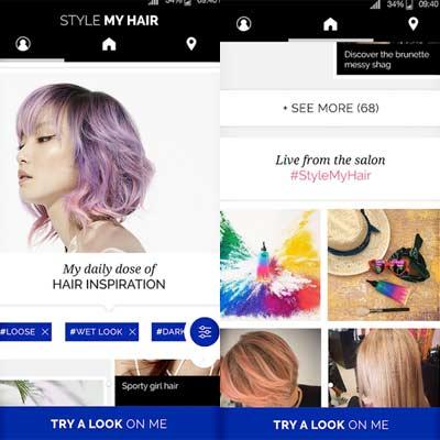 Aplicación Style My Hair
