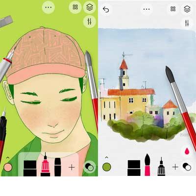 Aplicación Tayasui Sketches